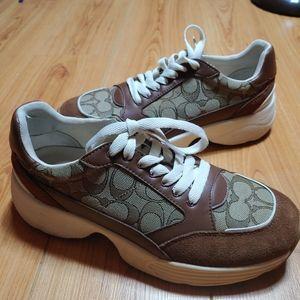 Women's COACH Designer Sneakers Khaki/Brown